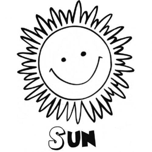 dibujo de un sol para colorear