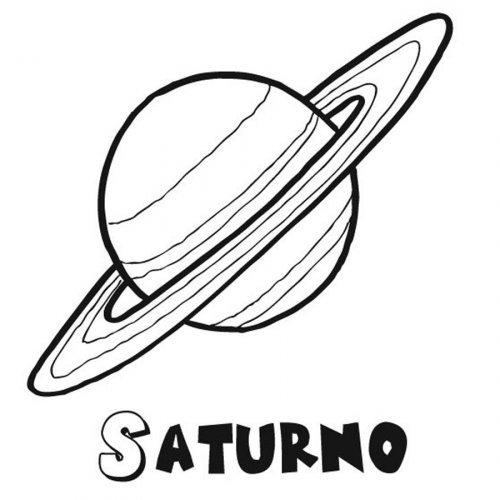 Dibujo del planeta Saturno para pintar