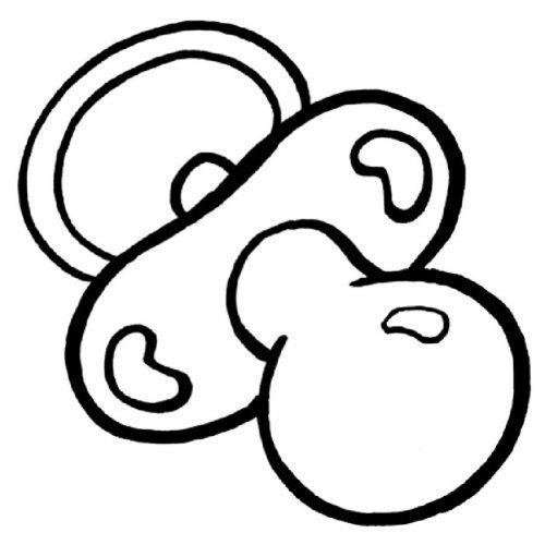 Dibujo de un chupete para imprimir y pintar