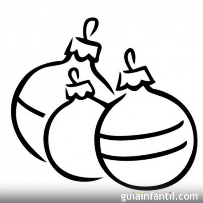 Bolas de Navidad para colorear. Dibujos para niños