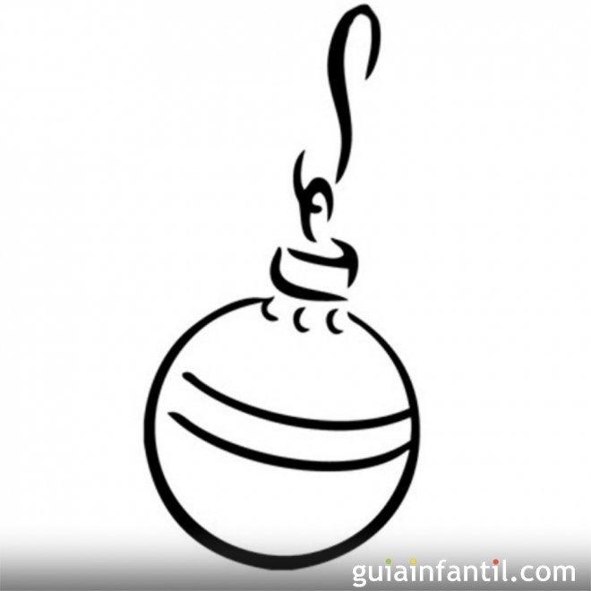Bolas De Navidad Dibujos Para Colorear.Dibujos De Navidad Para Colorear Bola De Navidad