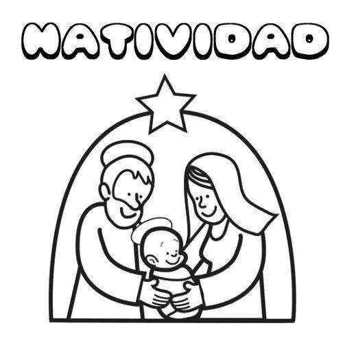 Natividad. Nombres de Navidad para colorear