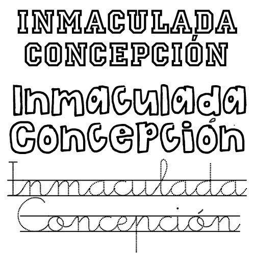 Inmaculada Concepción. Nombre de santo para niña