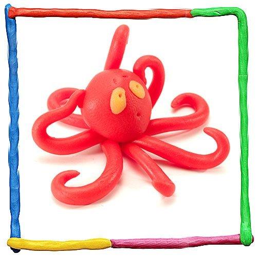 Pulpo de plastilina. Animales del mar