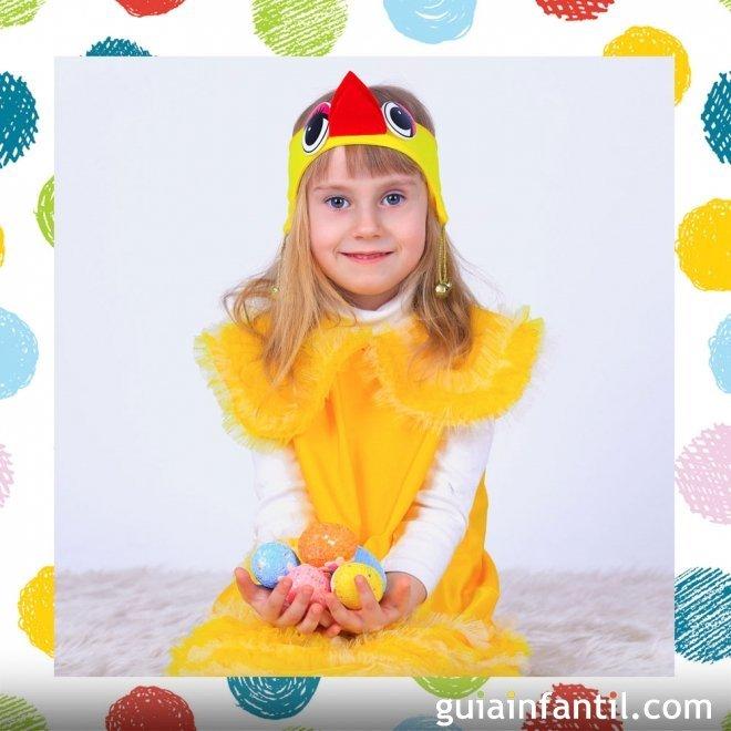 Disfraz casero de pollo para nios