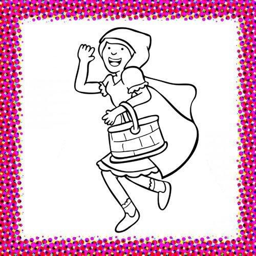Disfraz de Caperucita Roja para colorear con niños