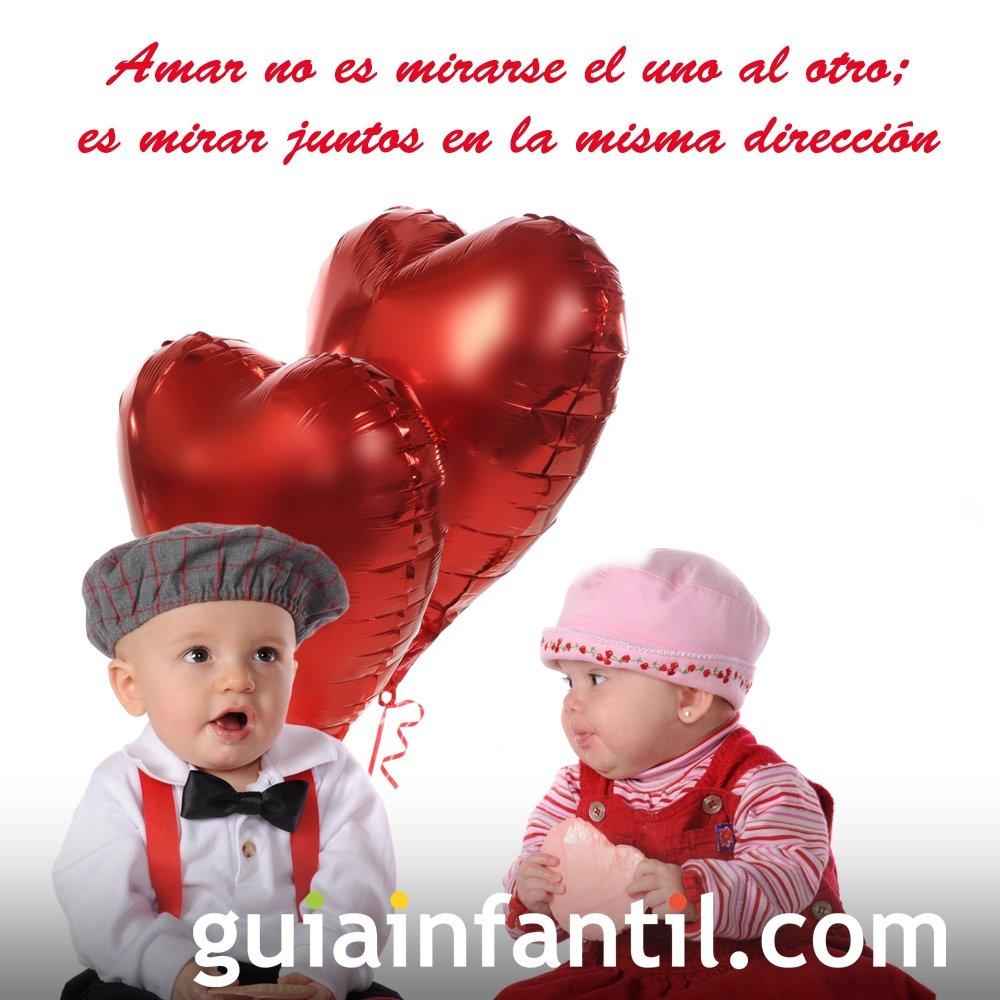 Ninos Con Un Globo De Corazon Frases De Amor Para Motivar