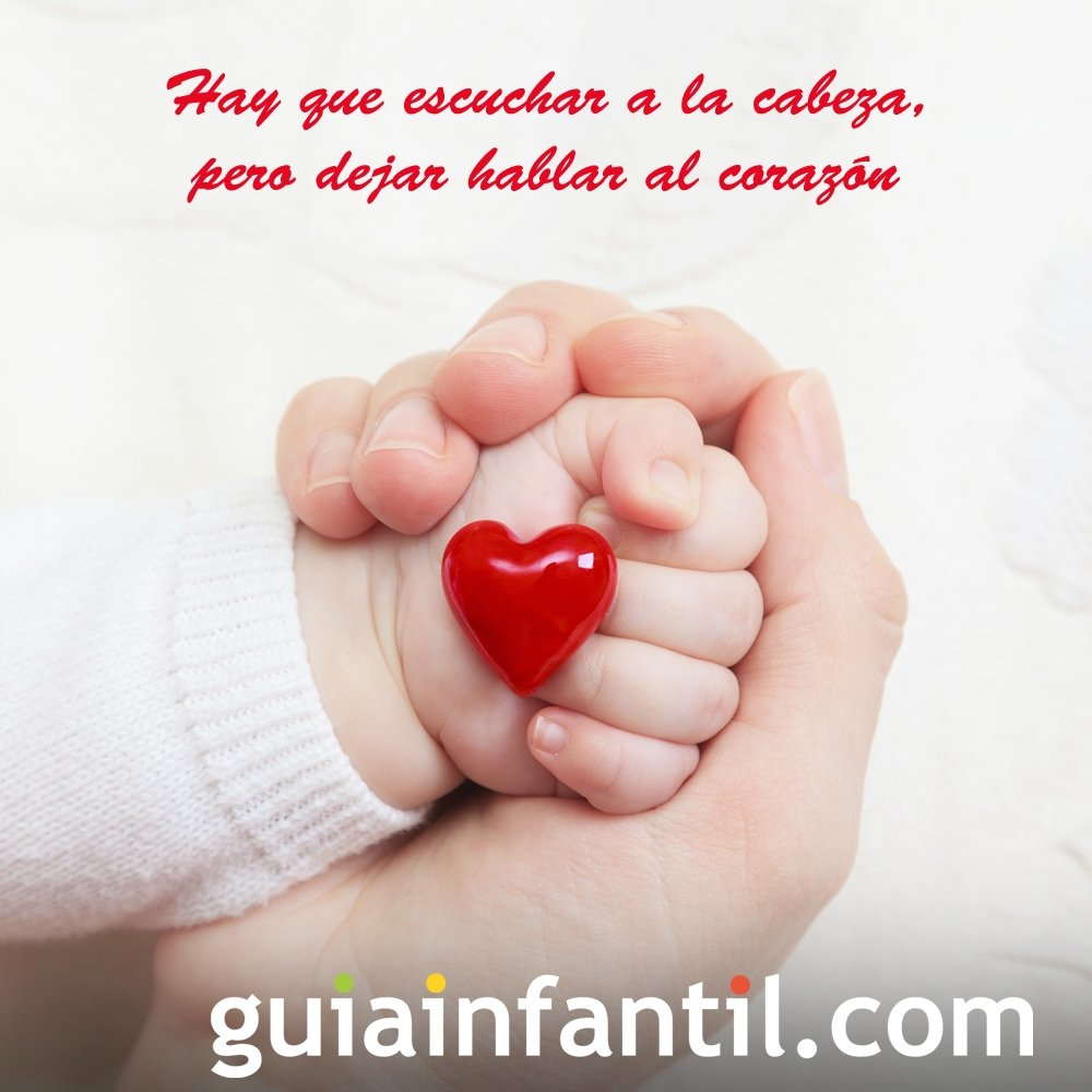 Manos Con Un Corazon Frases De Amor Para Ninos