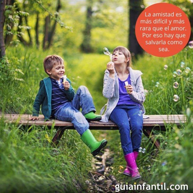Frases De Amistad Para Ninos Amigos Merendando