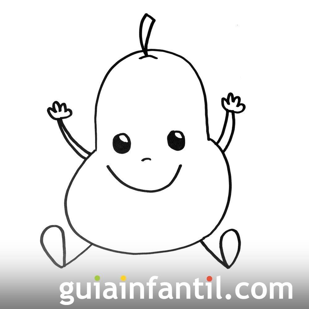 Imagen de una pera. Dibujos para colorear con niños