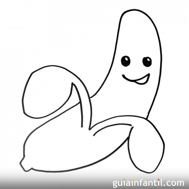 Imagen de un plátano. Dibujos para colorear con niños