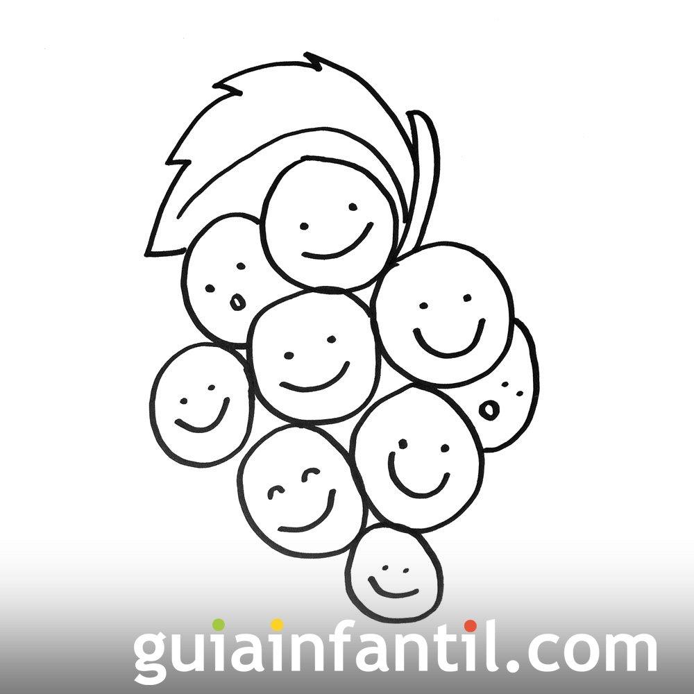 Imagen de un racimo de uvas. Dibujos para pintar con niños
