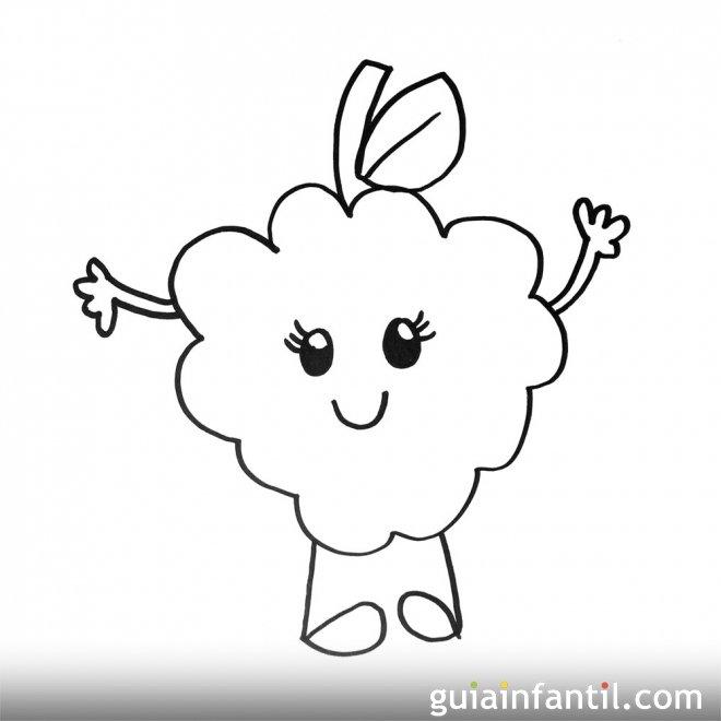 Imagen de unas uvas. Dibujos para colorear con los niños