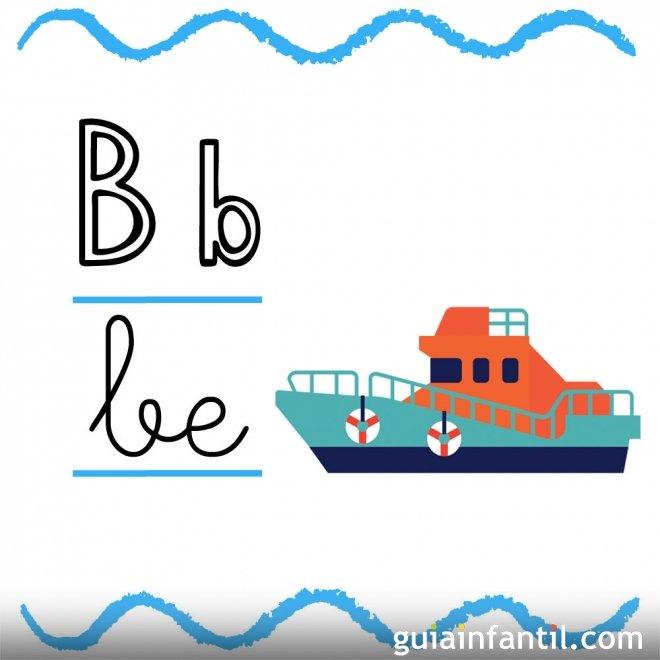Letra B. Fichas con el abecedario para niños