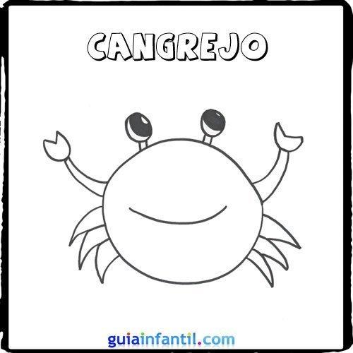 Dibujo de un cangrejo para pintar con los niños