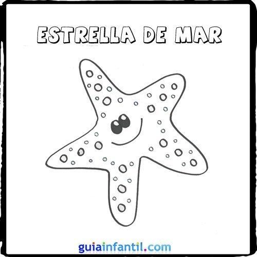 Dibujo de una estrella de mar para pintar con los niños