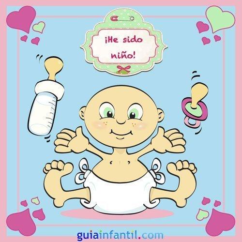 Tarjeta para anunciar que ha nacido un niño