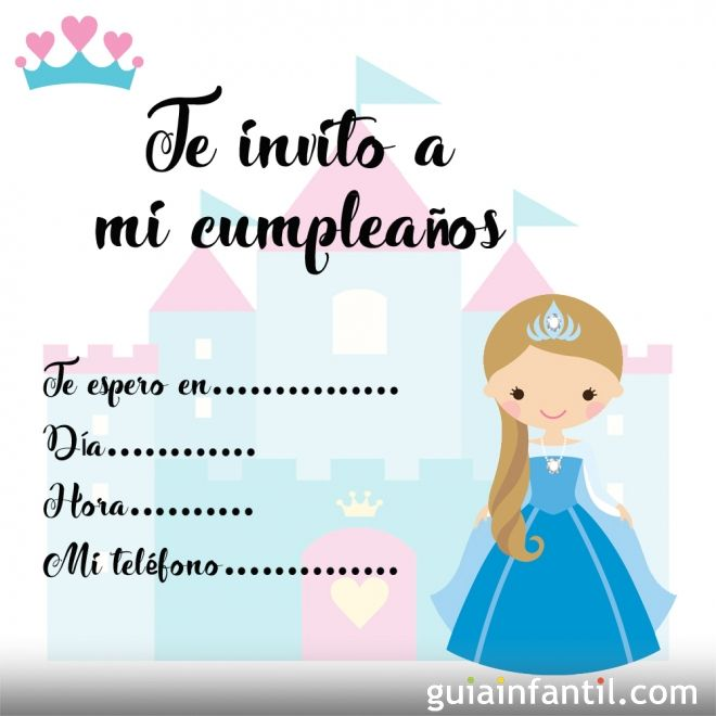 Tarjetas De Invitaci N De Cumplea Os Infantiles Con Princesas