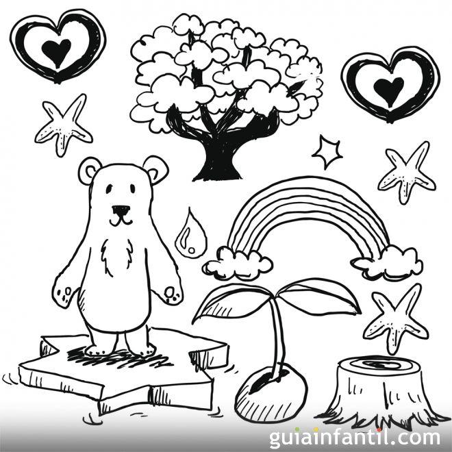 Dibujos sobre la naturaleza para colorear con los niños