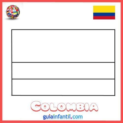 Bandera de Colombia para imprimir y pintar