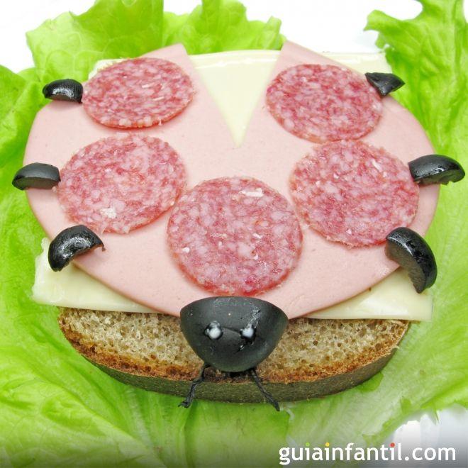 1- Sándwich de jamón y queso: mariquita
