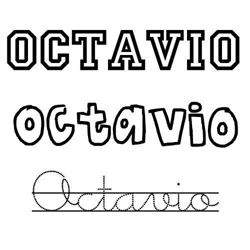 Dibujo del nombre Octavio para colorear