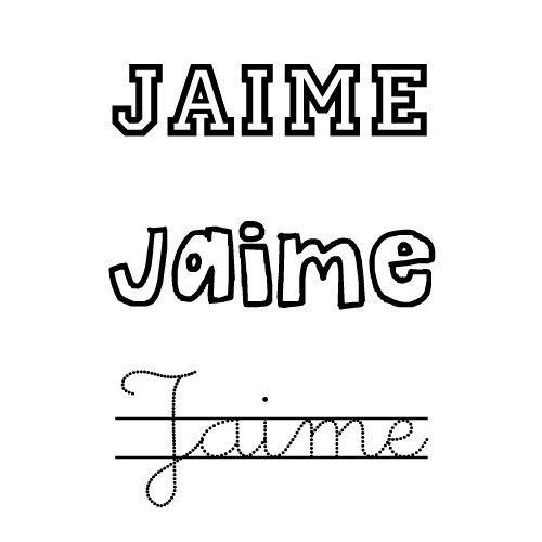 Dibujo para colorear del nombre Jaime