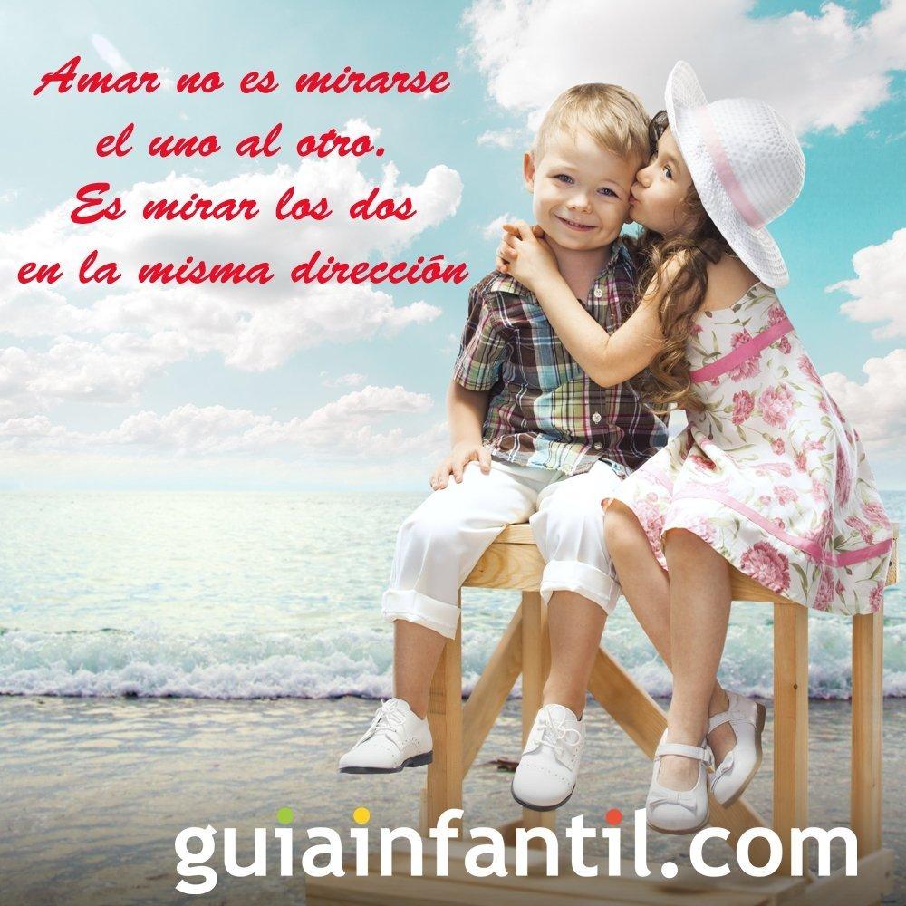 Tarjeta Con Dos Ninos Para San Valentin Frases De Amor Para Imprimir