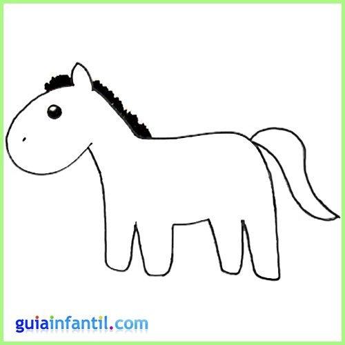 Dibuja un caballo. Aprende a dibujar animales