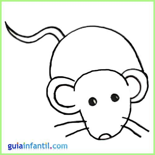 Dibujo de un ratón para pintar. Animales de la granja para imprimir
