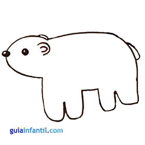 Dibujo de un oso para niños. Animales de la selva para colorear