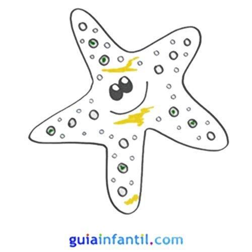 Dibujo de una estrella de mar para hacer con niños