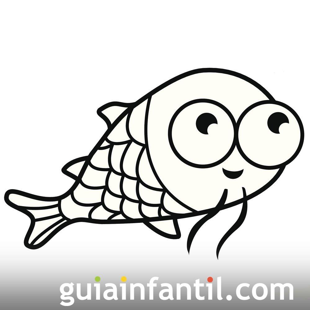 Dibujo de un pez para pintar y colorear