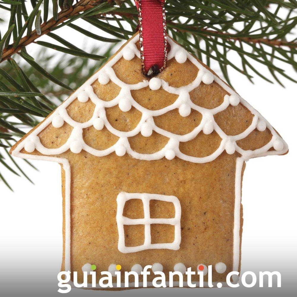 Galleta de casa de jengibre para decorar en Navidad