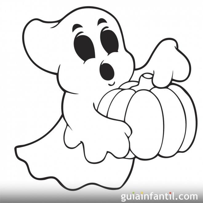 Dibujo de fantasma para imprimir y pintar