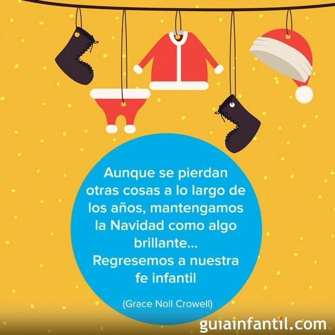 Postal navideña con un dibujo original de Papá Noel