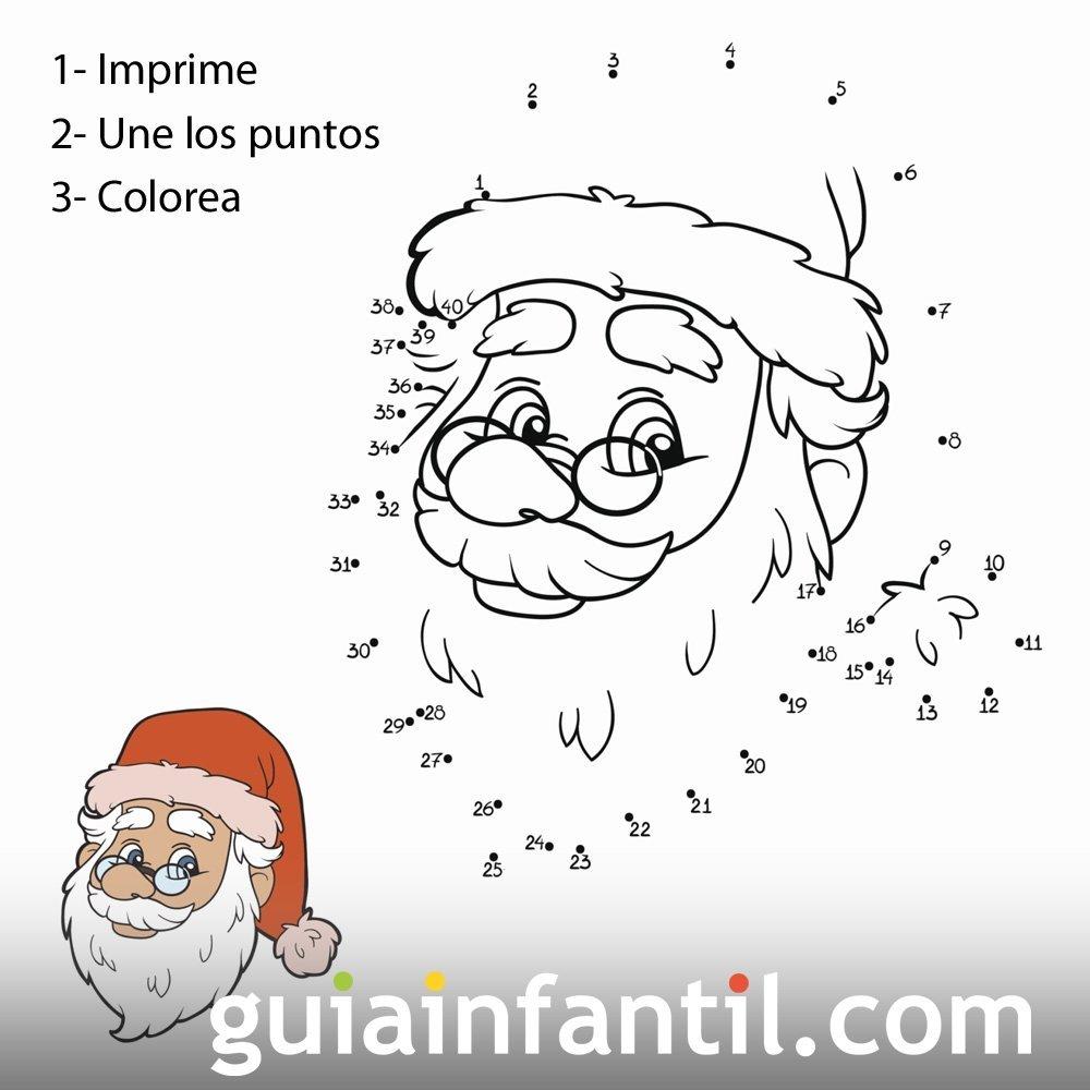 Dibujo de la cara de papá Noel para completar