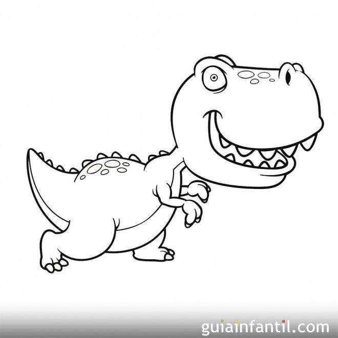Dibujo de Tyranosaurus Rex para niños
