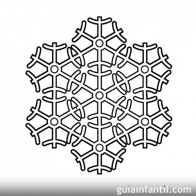 Dibujos de copos de nieve para pintar