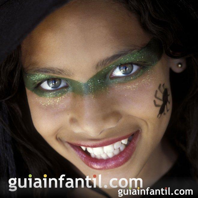 Mscara de maquillaje de bruja para halloween