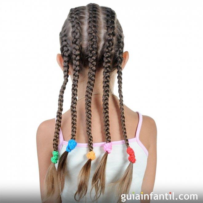 Trenzas Pegadas A La Cabeza Peinados Infantiles - Imagenes-de-trenzas