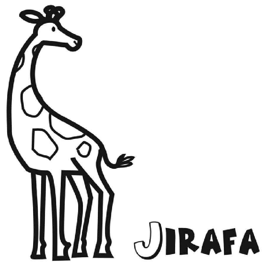 Dibujo para niños de jirafa