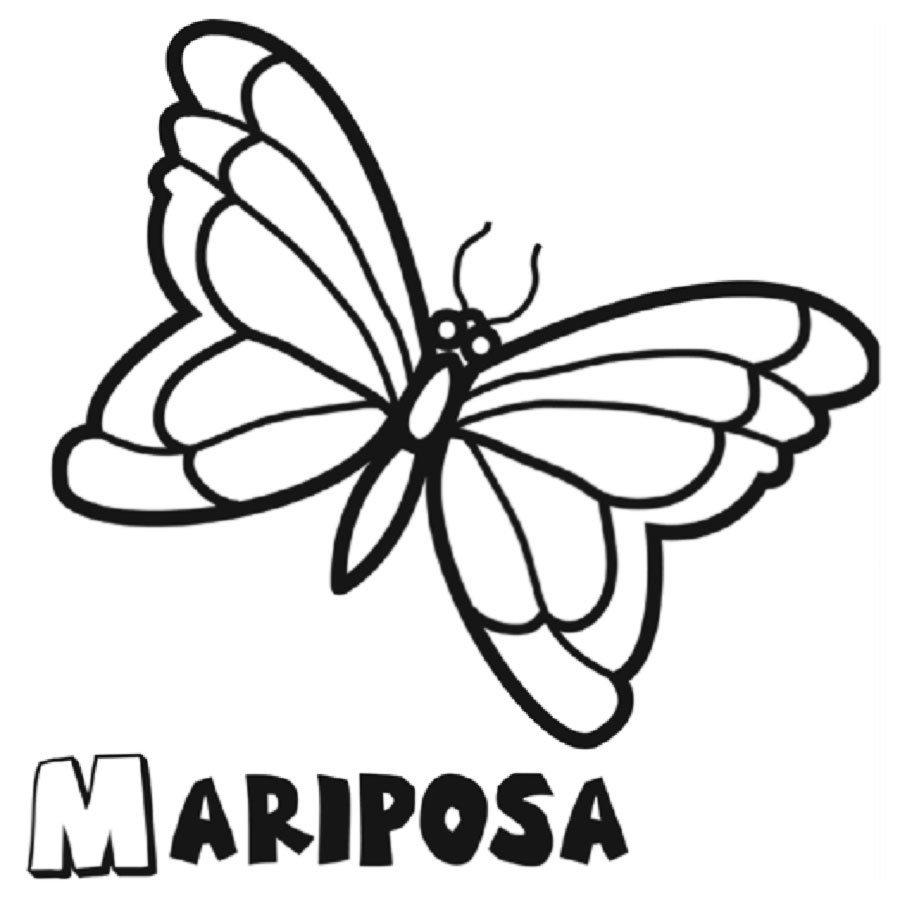 Dibujo de mariposa para pintar