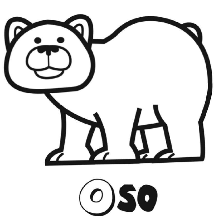 Dibujo para colorear de oso pardo