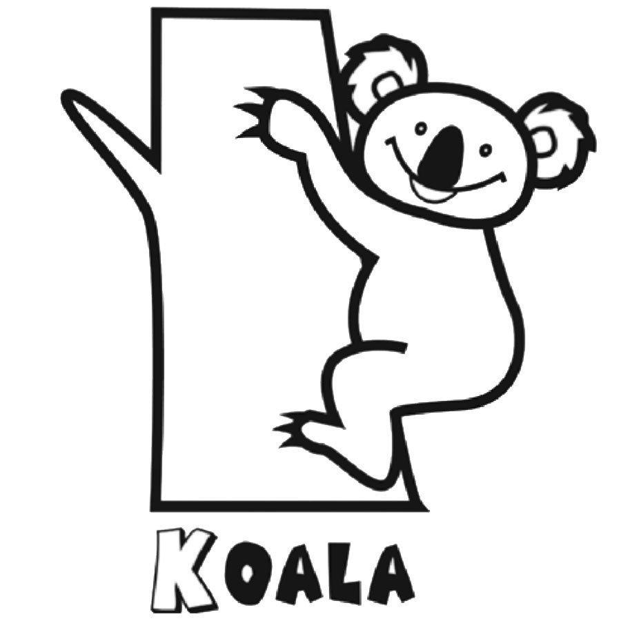 Moderno Bebé Koala Para Colorear Adorno - Dibujos Para Colorear En ...