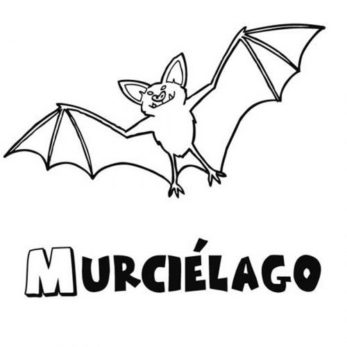 Dibujo para colorear de murciélago
