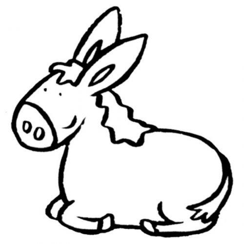 Dibujo para imprimir y colorear un burro