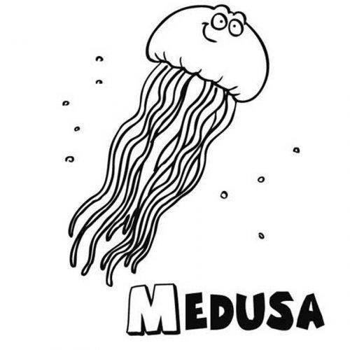 Dibujo de medusa para imprimir y pintar