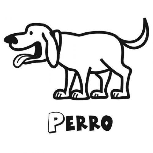 Dibujo de un perro para imprimir y colorear