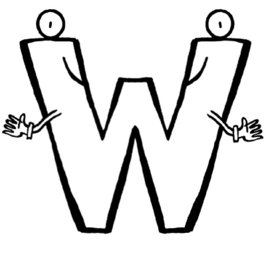 Dibujo de la letra W para colorear